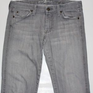 7 FOR ALL MANKIND GRAY CROP JEANS US 28